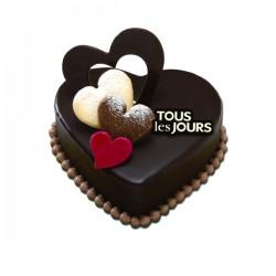 Chocolate heart cake #2
