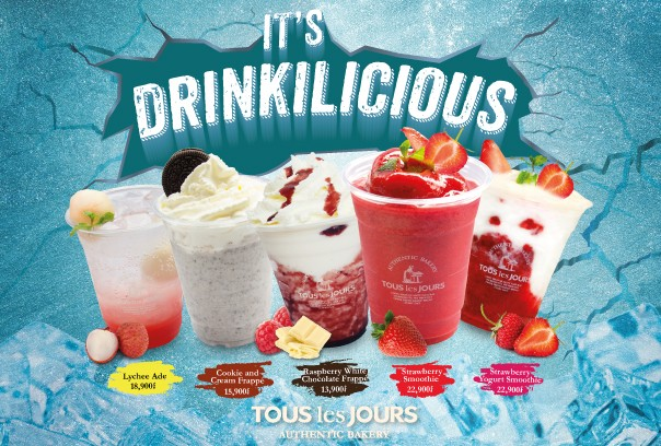 Tous les Jours New Drinks. Its drinkilicious.